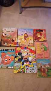 Disney Hard cover books and one Dr. Seuss