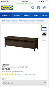 Hemnes 3 draw tv bench