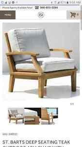 Solid teak designer chairs