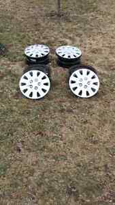 """16"""" Rims with hubcaps"""
