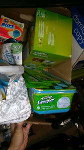 Extra cleaning supplies. Moving sale