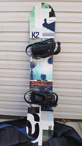 Snowboard with Bindings and Boots