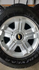 4 2013 CHEVY RIMS WITH GOODYEAR WRANGLER SR/A 265/65/18