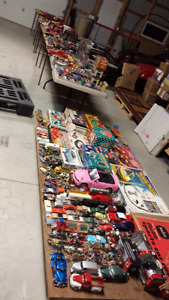 Large collection of die-cast and models and car toys