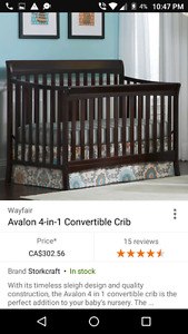Storkcraft Avalon 4 Stage Convertible Crib STILL UNDER WARENTEE