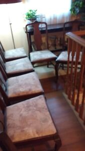 7 Antique Dining Room chairs 6 + 1 chairs $150.00 OBO