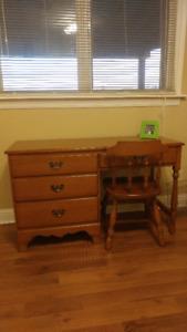 Krug  dresser w mirror, desk w chair, highboy. Check other ads