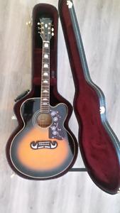 Price Dropped Epiphone EJ200 jumbo acoustic guitar