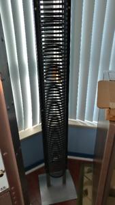 metallic cd rack/tower , mint condition
