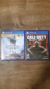 Call of Duty Black Ops 3 and Starwars Battlefront