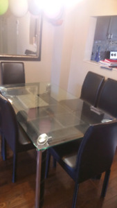 Dining table set and coffee table set