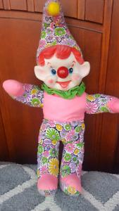 Vintage musical clown doll