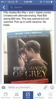 Fifty shades of grey blu ray- DVD - digital combo