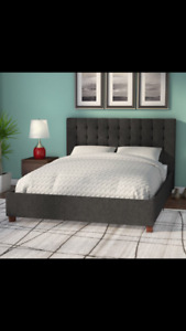 Brand new full size upholstered bed