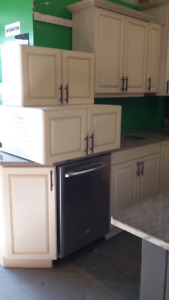 Complete kitchen cabinets with Granite Island