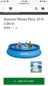 15 foot round pool, 3 feet deep...excellent condition