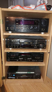 complete stereo system with karaoke