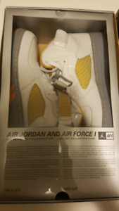 Air Jordan Fusion 5 white/orange peel/stealth size 11.5
