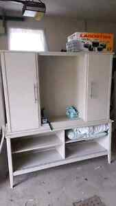 Painted teek China cabinet