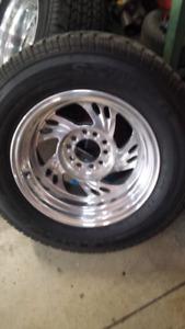 15x8 polished aluminum wheels
