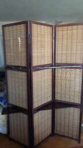 Wooden Folding Screen /Partition