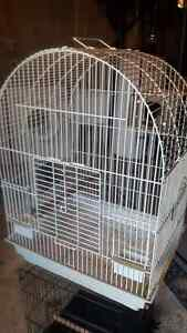 Bird cage with nest box
