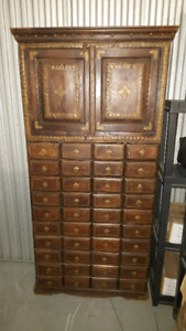 Antique medicine cabinet with 40 drawers