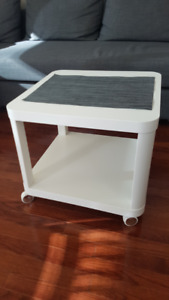Couch side table - white