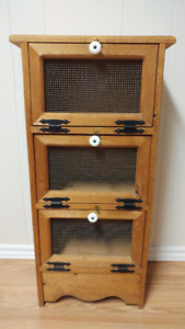 Vintage Vegetable Storage Cabinet