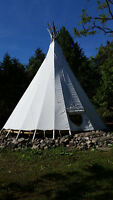 The Kids Will LOVE This Island TeePee! Labour Day Weekend!