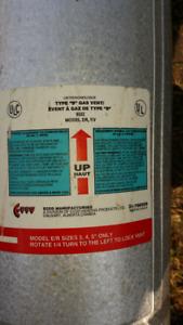 5 Feet ECCO Type B Gas Vent, Model E/R  Residential
