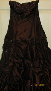 Gorgeous Sparkly Chocolate Brown Prom Dress