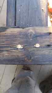 Barn board coffie table 2foot by 5foot by 16 inch Cambridge Kitchener Area image 10