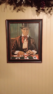 Vintage card dealer wall picture