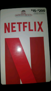 Netflix gift card worth $150 brand new Never used!! Asking $99