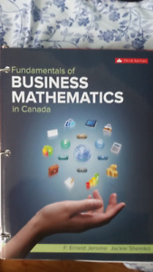 Fundamentals of business mathematics in Canada - 3rd edition