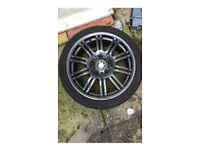 """Bmw M3 18"""" Grey Alloy can post"""