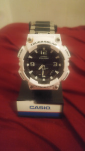Mens White Digital Solar Sports Watch 1 week old