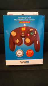 Brand New Wii U Wired Fight Pad - Donkey Kong Edition