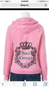 $120 Authentic Juicy Couture pink hoodie Larfe