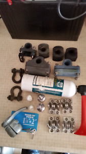 Assorted used boat top hardware