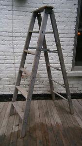 Vintage Wooden 6 Foot Step Ladder