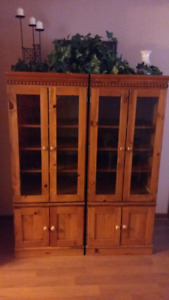 Beautiful solid wood Cabinets/hutch/wall unit