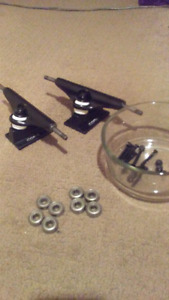 CORE complete skateboard trucks and bearings.