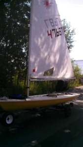 Laser Sail Boat and trailer.