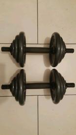 2x10 kg Adjustable Iron Dumbbells