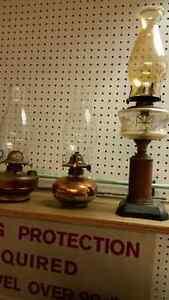 3 antique oil lanterns
