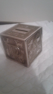 Sterling silver plated money box