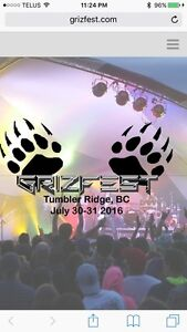2 weekend passes for Grizfest July 30-31