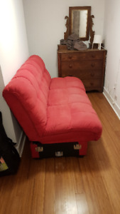 Red Futon for Sale- Pick Up Only